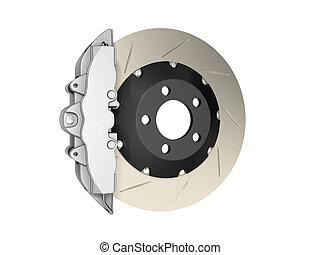 Brake caliper isolated on white background