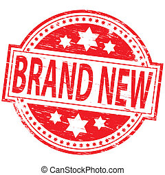 "Rubber stamp illustration showing ""BRAND NEW"" text"