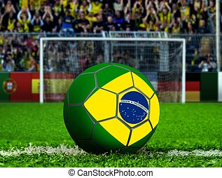 Brazil Ball with Goal Post