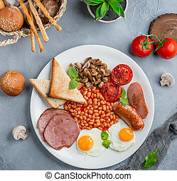 breakfast plate on the table