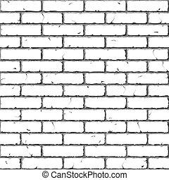 Vector illustration of seamless brick wall