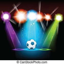 Bright background with ball