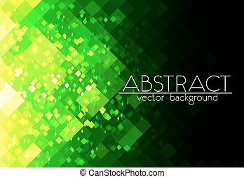 Bright green grid vector abstract horizontal background