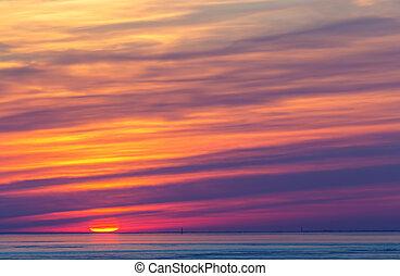 sun on the horizon