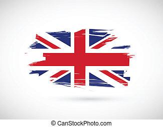 british ink flag illustration design on white background