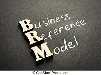 BRM - Business Reference Model from wooden letters.