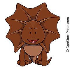 Brown iguana cartoon illustration