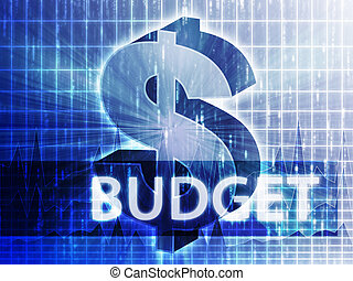 Budget Finance illustration, dollar symbol over financial design