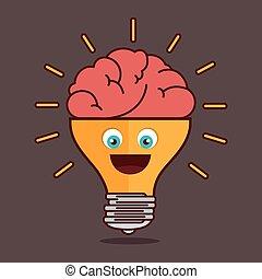 bulb idea creative isolated design, vector illustration graphic