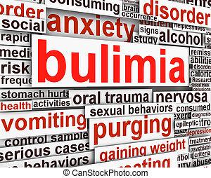 Bulimia Nervosa message conceptual design