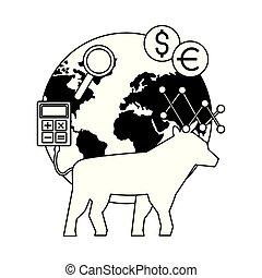 bull world trade exchange stock market