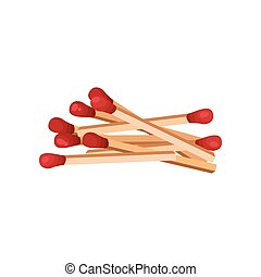 Bunch of new matches. Vector illustration on white background.