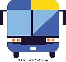 Bus isolated on white background