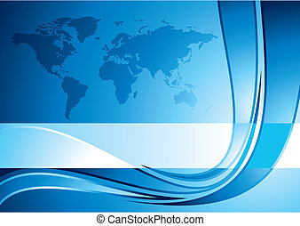 Business background with world map, vector illustration - NASA world map used as base image for this artwork