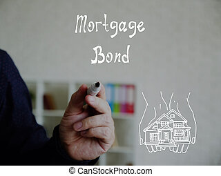 Business concept about Mortgage Bond with inscription on the piece of paper.