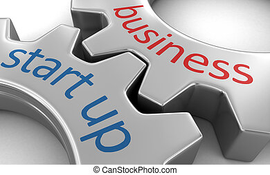 Business concept on the gearwheels