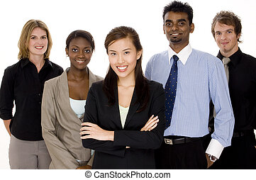 A diverse and multi-cultural business team