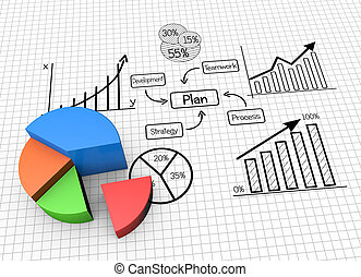 Concept image planning, finances and data