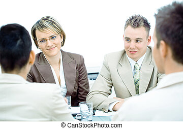 Business meeting isolated