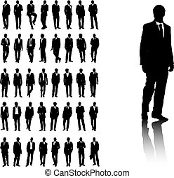 Set of business men silhouettes. Available in jpeg and eps8 format.