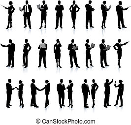 Business People Silhouette Super Set