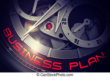 Business Plan on the Old Wristwatch Mechanism. 3D.