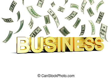 business rain of money