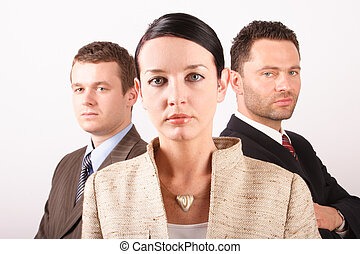 Three persons business team - close up