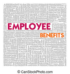 Business word cloud for business concept, Employee Benefit