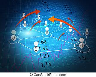 business world, stock exchange chart