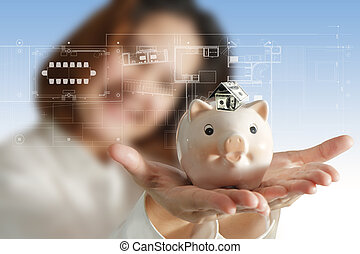 businesswoman as smart investment