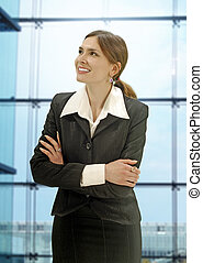 Businesswoman in the modern office