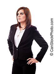 Businesswoman standing with hands on hips