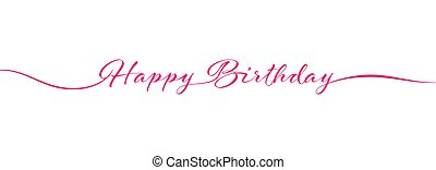 Calligraphy Happy BIRTHDAY lettering on white background for postcards, posters, invitations and creative design