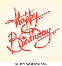 Calligraphy happy birthday