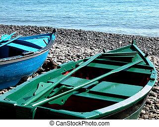canoe in the beach