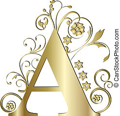 capital letter A gold