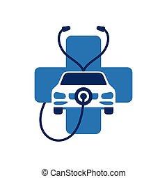 Car diagnistic or automobile repair icon