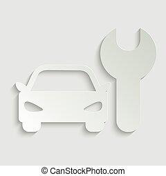 car icon with repair Icon vector