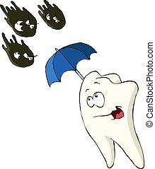Tooth on a white background, vector illustration