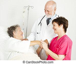 Caring Hospital Staff
