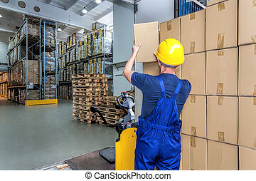 Carrying a boxes