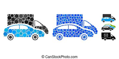 Cars Composition Icon of Spheric Items