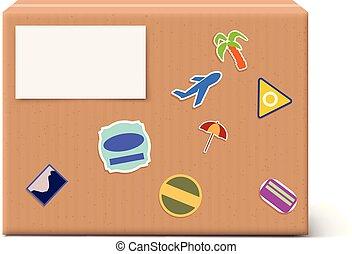 carton box on bright