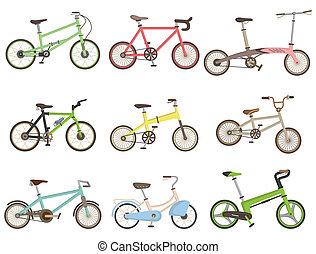 cartoon bicycle icon