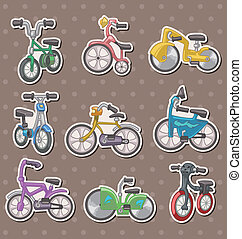 cartoon Bicycle stickers