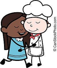 Cartoon Black Girl Giving a Hug