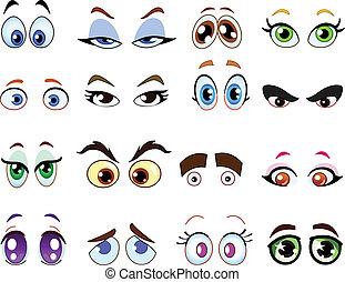 Cartoon eye set