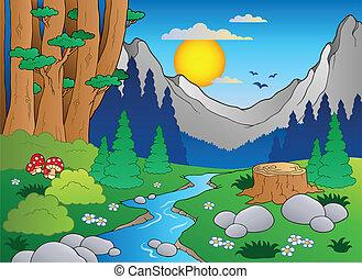 Cartoon forest landscape 2