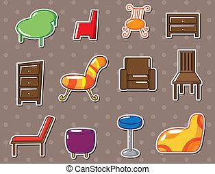 cartoon furniture stickers